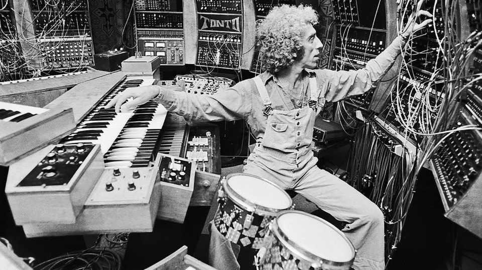 Malcolm Cecil with TONTO, the synthesizer he built