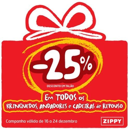 25% de desconto talão   ZIPPY   Brinquedos, Andadores e Cadeiras de Repouso
