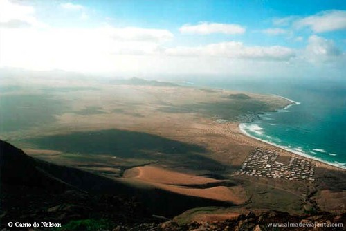 Praia de Famara em Lanzarote