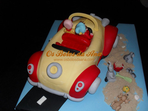 Bolo Artistico 3D Carro do Noddy