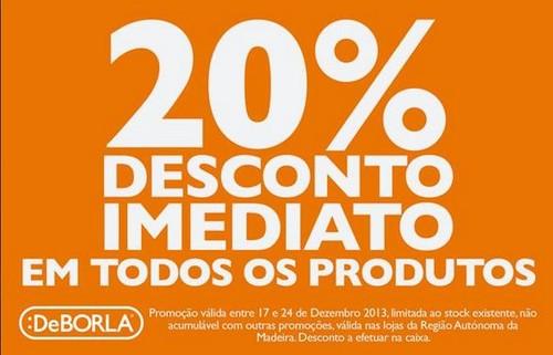 20% de desconto imediato | DEBORLA | Todos os Produtos