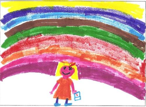 O arco-íris da Carolina, 8 anos. Faro.