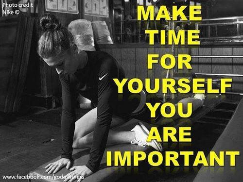 Guarda tempo para ti, é importante