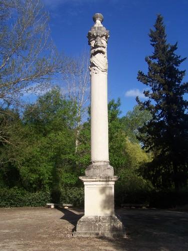 Padrão que marca onde as tropas de Mestre de Avis se juntaram às de Nuno Alvares Pereira antes da Batalha de Aljubarrota