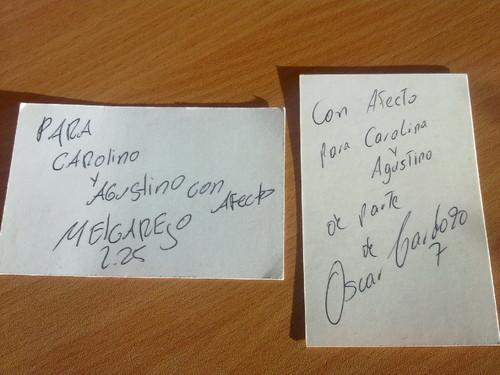 Os autógrafos