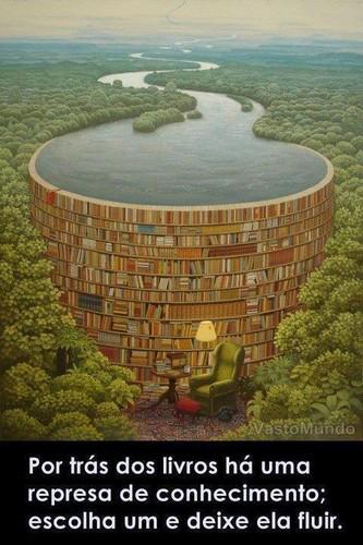 Por trás dos livros