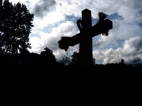 Cemitério, religião, cruz