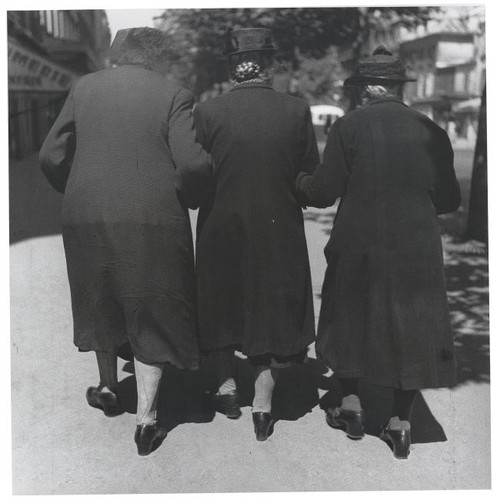 Three Women, Sunday Stroll Near Denfert Rochereau