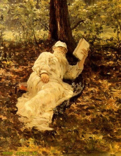 Lev Tolstoi poe Ilya Repin.