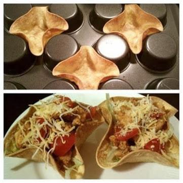 Taças de tortilha