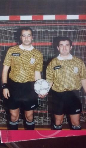 Os árbitros Abrantes e Paulo Almeida,