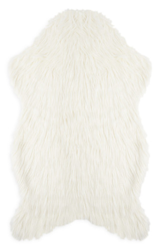 kimball-9611601-shaggy faux fur throw cream, grade