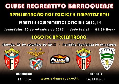 Tem inicio esta segunda feira os treinos de futsal do Clube Recreativo  Barroquense d04ecb8818b83