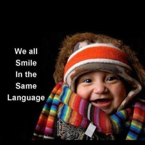 Todos sorrimos na mesma lingua