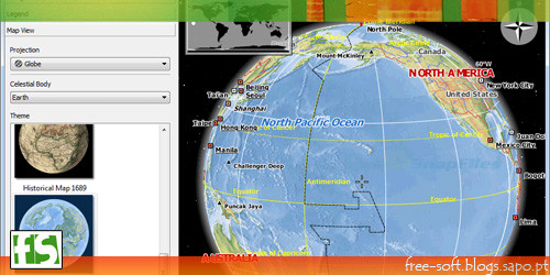 marble portable - atlas e globo virtual