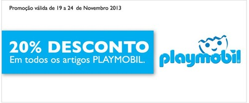 20% de desconto | EL CORTE INGLÉS | Playmobil, de 19 a 24 novembro