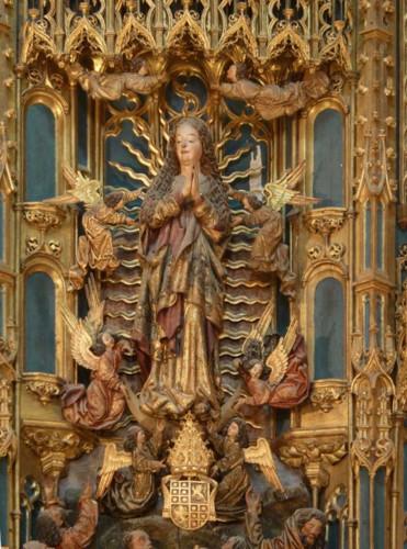 Sé Velha de Coimbra, retábulo-mor. Assunção da