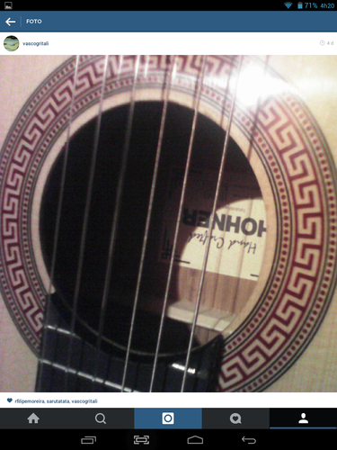 Guitarra acustica Hohner de Vasco Gritali