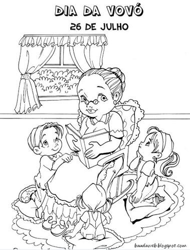 Desenhos Dia Da Avo Para Colorir O Mundo Das Criancas