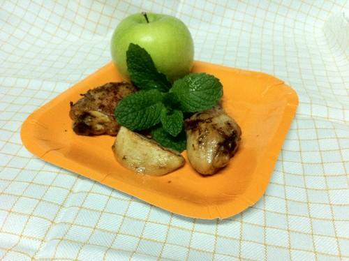 Frango com maçã verde