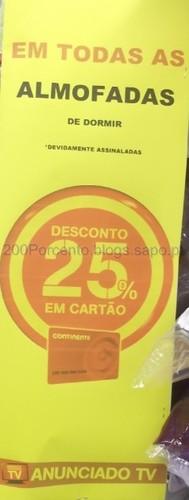Almofadas com 25% em Cartão