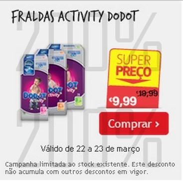 Super Preço | CONTINENTE | Fraldas Dodot - de 22 a 23 março