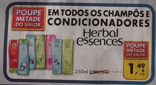 Acumulação 50% + Vale | PINGO DOCE | Herbal Essences, de 3 a 9 dezembro