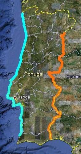 Fronteira de Portugal já percorrida