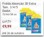 Super-Preço | CONTINENTE | Fraldas Dodot, até 26 Outubro