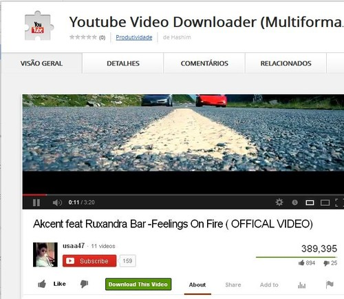 baixar videos youtube google chrome