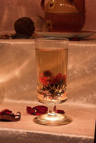 Chá em flor