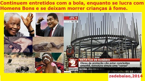 Eusébio; Mandela; Morte; Benfica