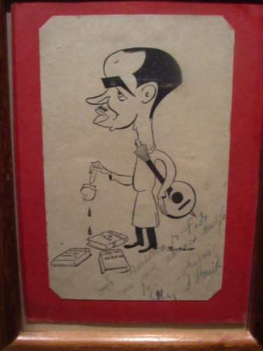 Caricatura no Museu do Fado