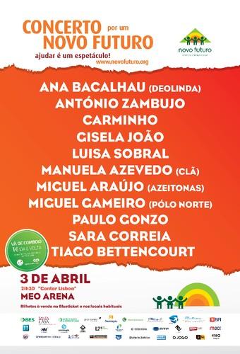 Cantar Lisboa - Concerto por um Novo Futuro junta grandes nomes da música nacional