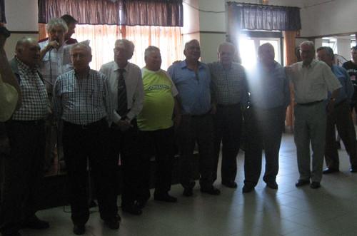 Alguns dos jogadoresdo antigo Sporting Clube de Avelar
