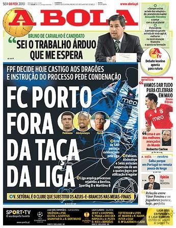 Porto Fora da taça da Liga - A Bola