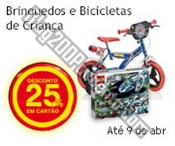 25% de desconto | CONTINENTE | até 9 abril - Brinquedos e Bicicletas