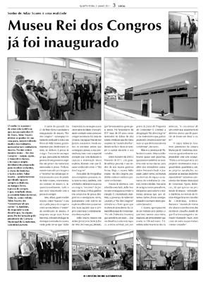 Museu Rei dos Congros no jornal O Comércio de Gondomar