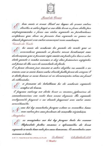 Transcrição do Foral de Cerva