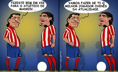 Futre e o Falcão no atlético de Madrid