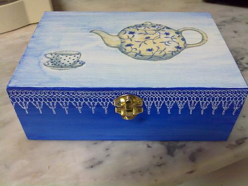 caixa chá redinhada