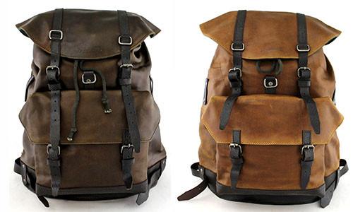 mochilas de homem de couro