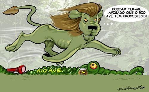 Leão sofre