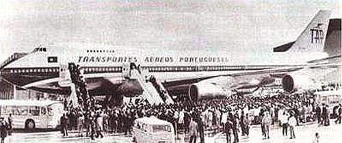 Boeing 747 CS-TJB, Luanda (?), 1975(?)