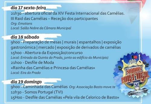 Programa Exposição de Camélias Celorico de Bast