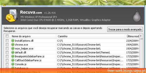 programa grátis para recuperar ficheiros apagados - recuva