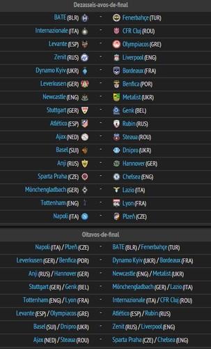 Image Result For Liga Europa Sorteio