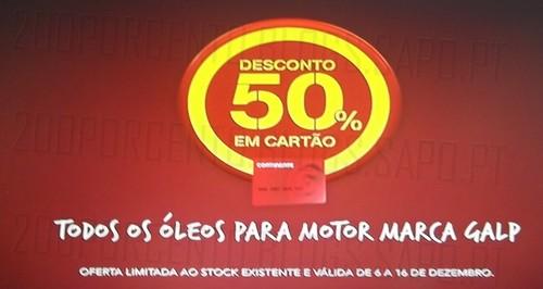 Avistamento 50% desconto | CONTINENTE | óleos motor Galp, até 16 dezembro