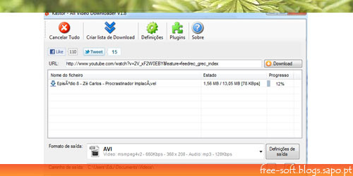 Kastor All Video Downloader - copiar videos de qualquer site