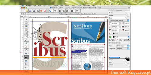 Alternativa grátis ao Adobe PageMaker, QuarkXPress e Microsoft Publisher